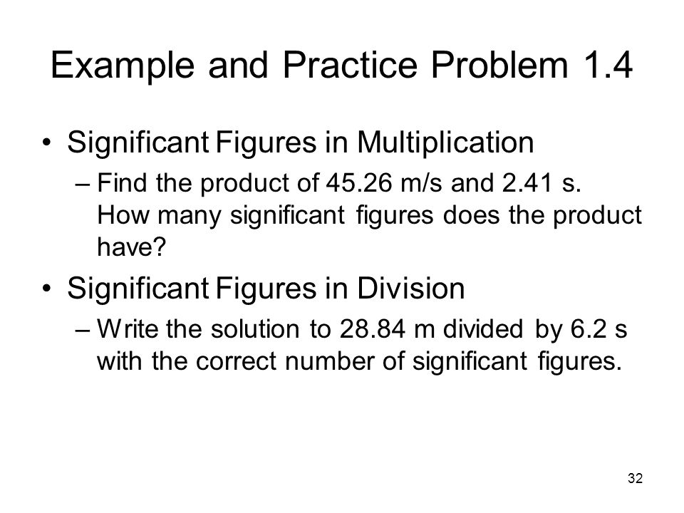 Example and Practice Problem 1.4