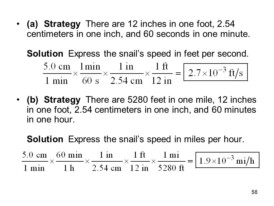 (a). Strategy There are 12 inches in one foot, 2