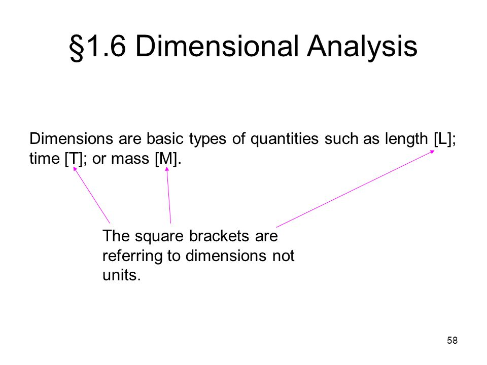 §1.6 Dimensional Analysis