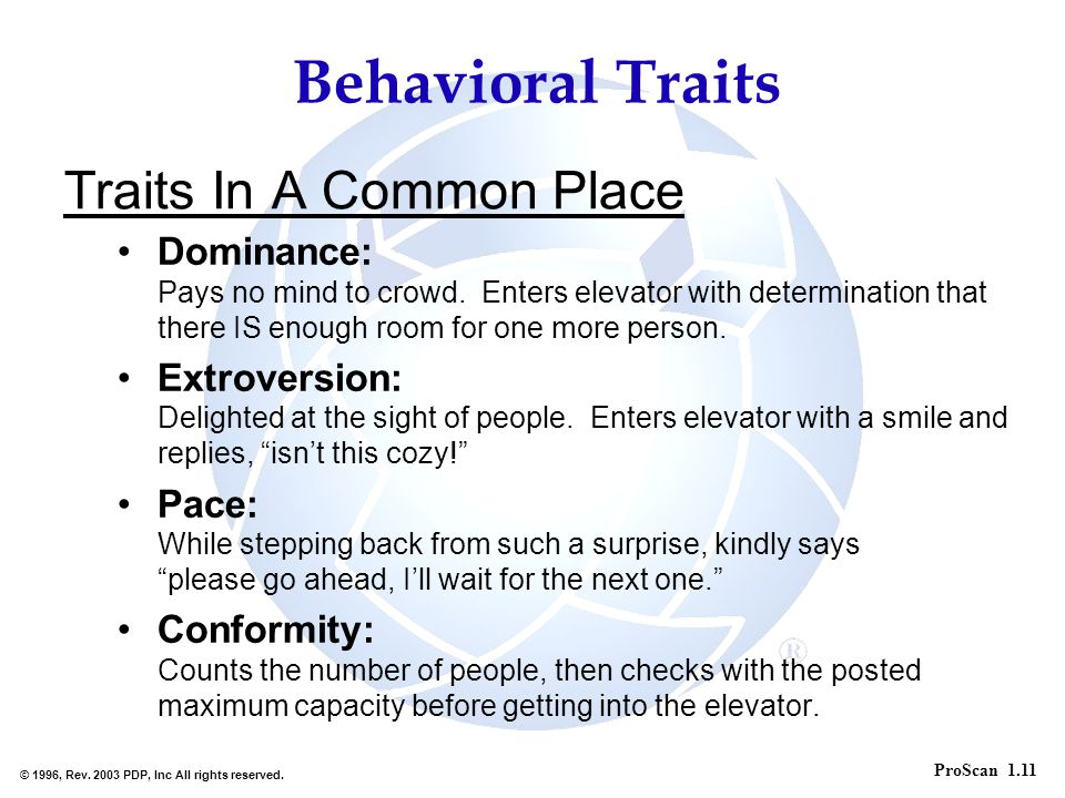 Traits In A Common Place
