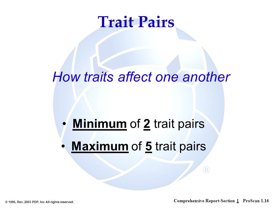 How traits affect one another