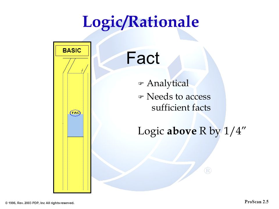 Fact Logic/Rationale Analytical