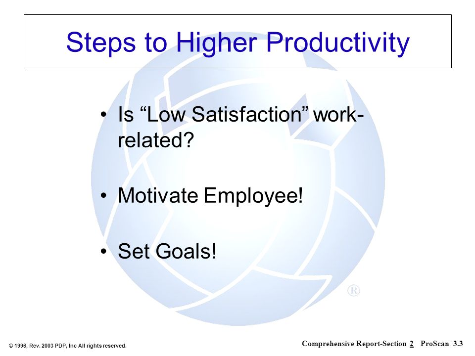 Steps to Higher Productivity