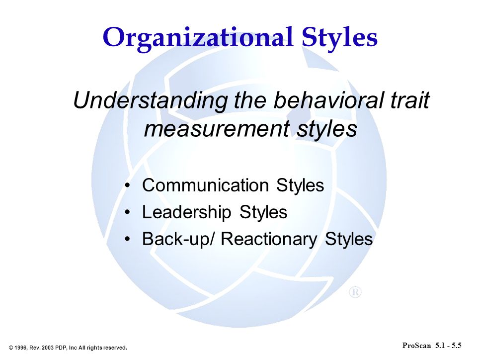 Understanding the behavioral trait measurement styles