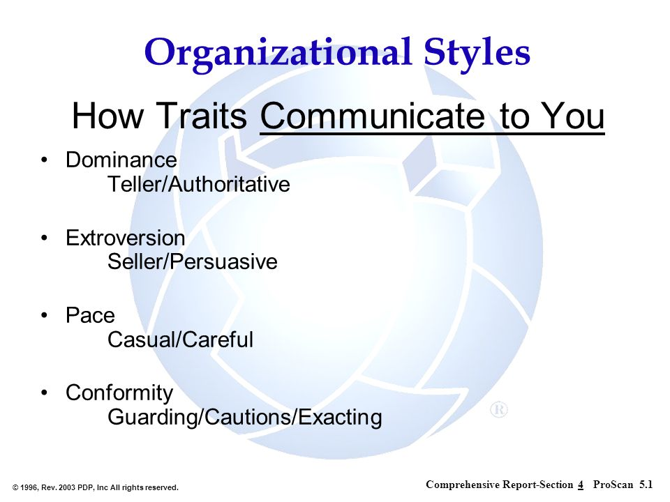 How Traits Communicate to You