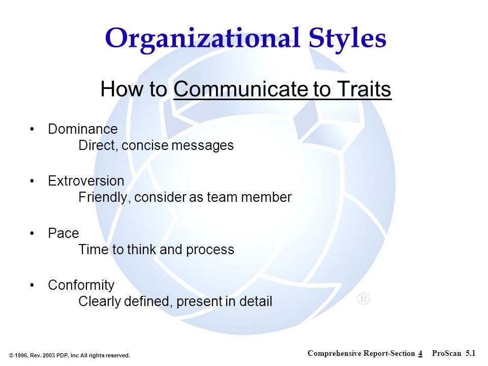 How to Communicate to Traits