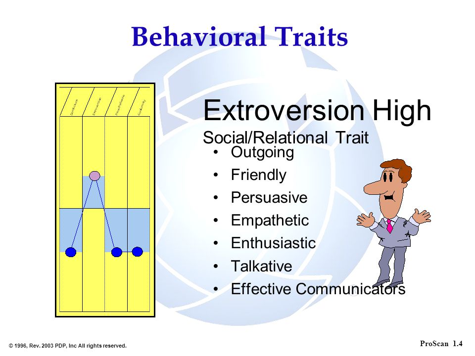 Extroversion High Social/Relational Trait