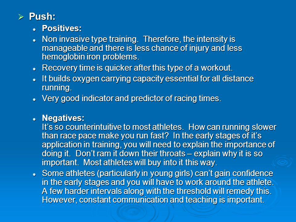 Push: Positives: