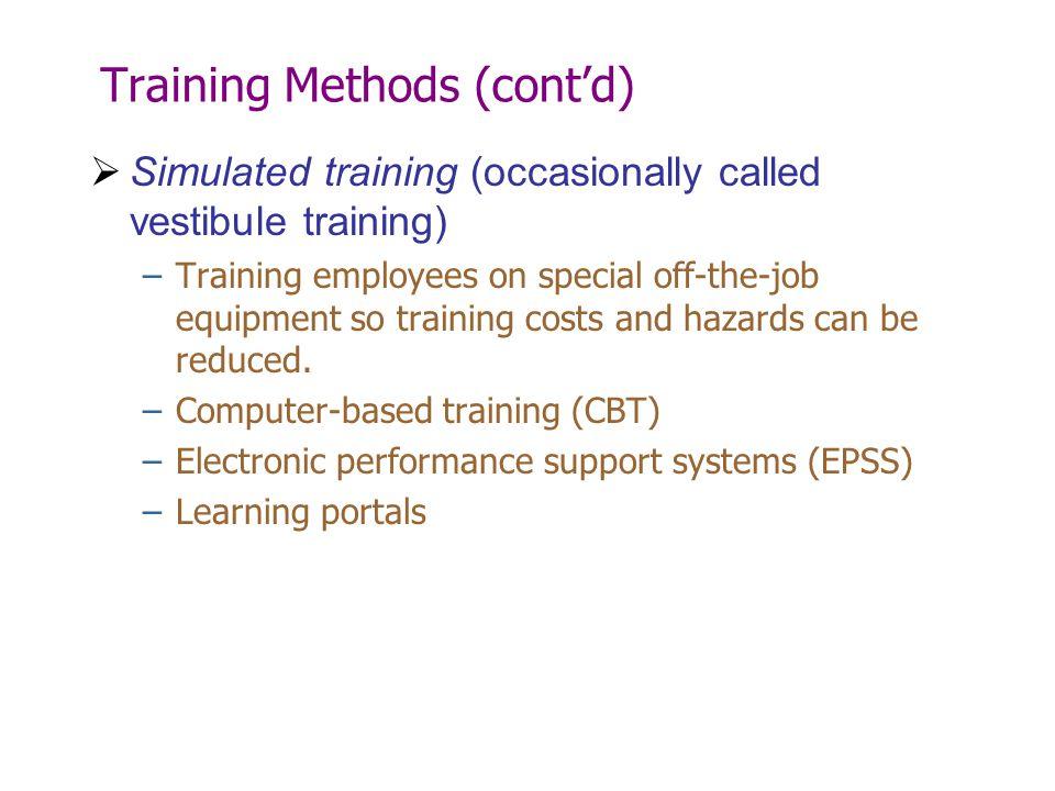 Training Methods (cont'd)