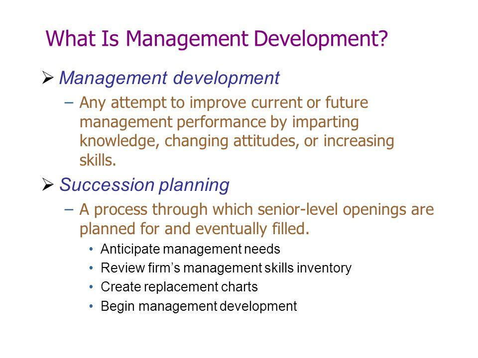 What Is Management Development