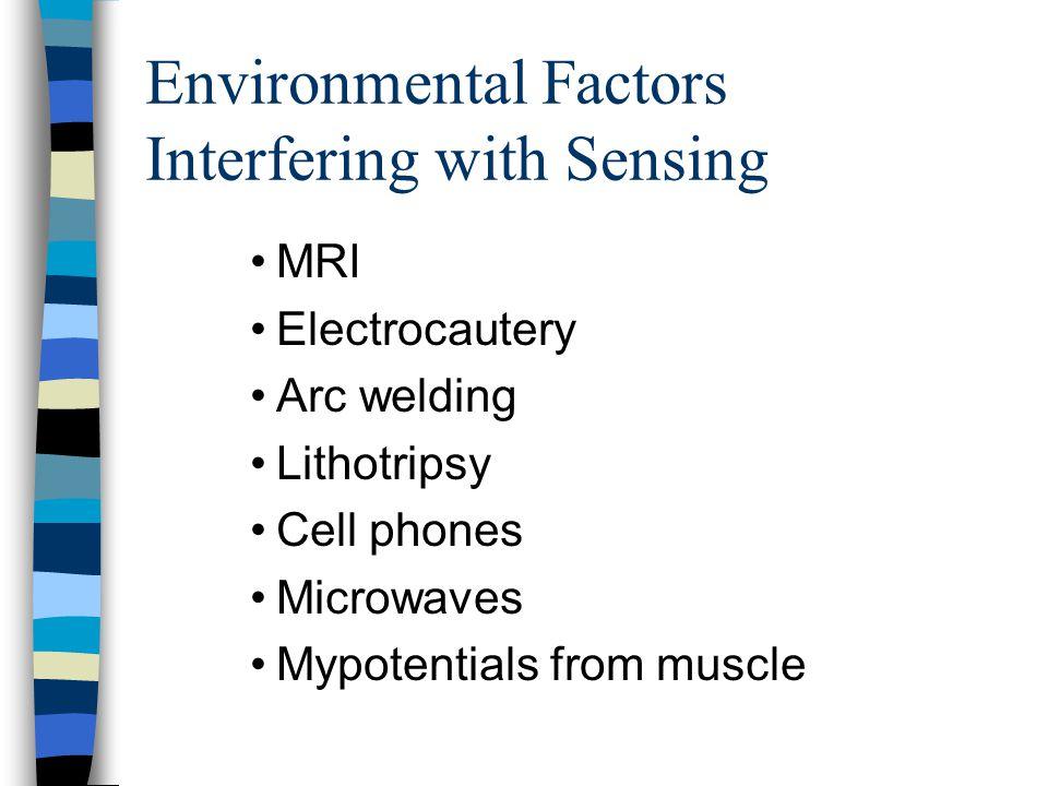 Environmental Factors Interfering with Sensing