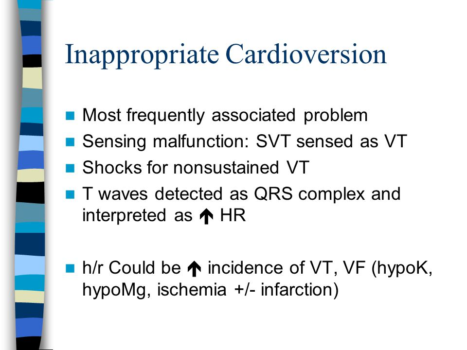 Inappropriate Cardioversion