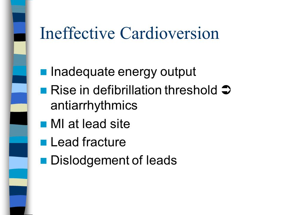 Ineffective Cardioversion