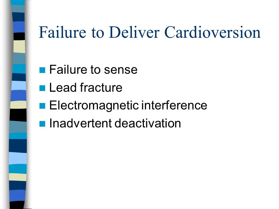 Failure to Deliver Cardioversion