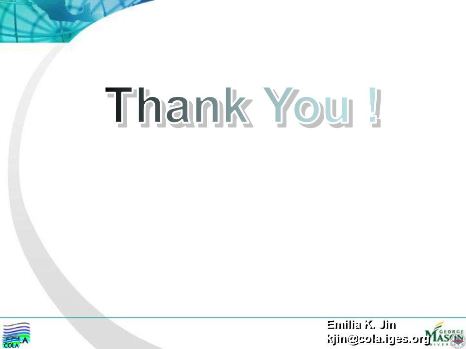 Thank You ! Emilia K. Jin kjin@cola.iges.org