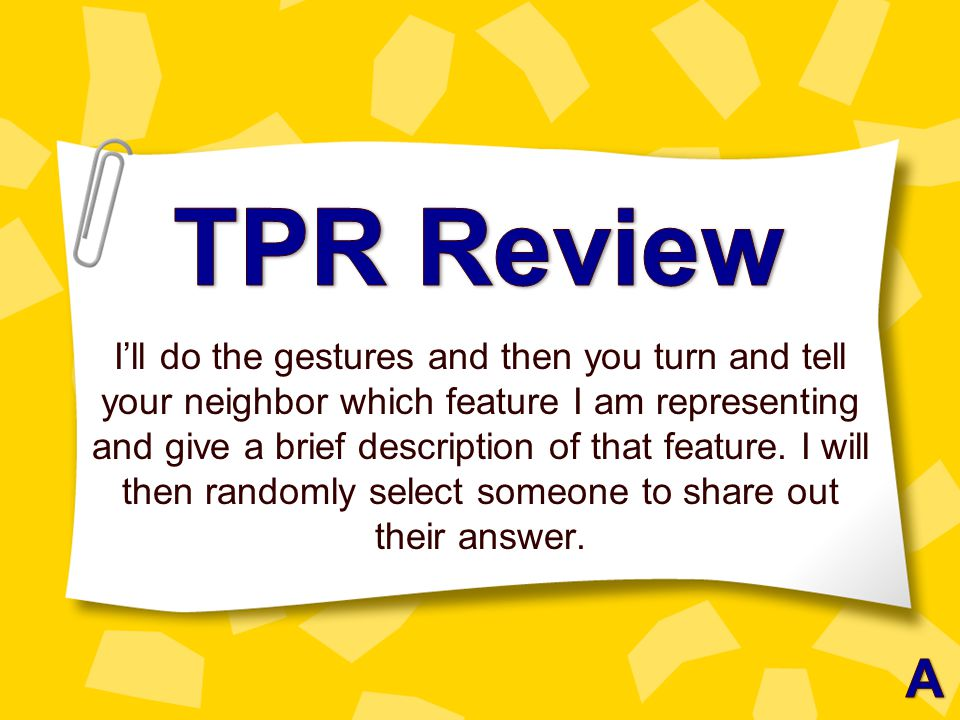 TPR Review
