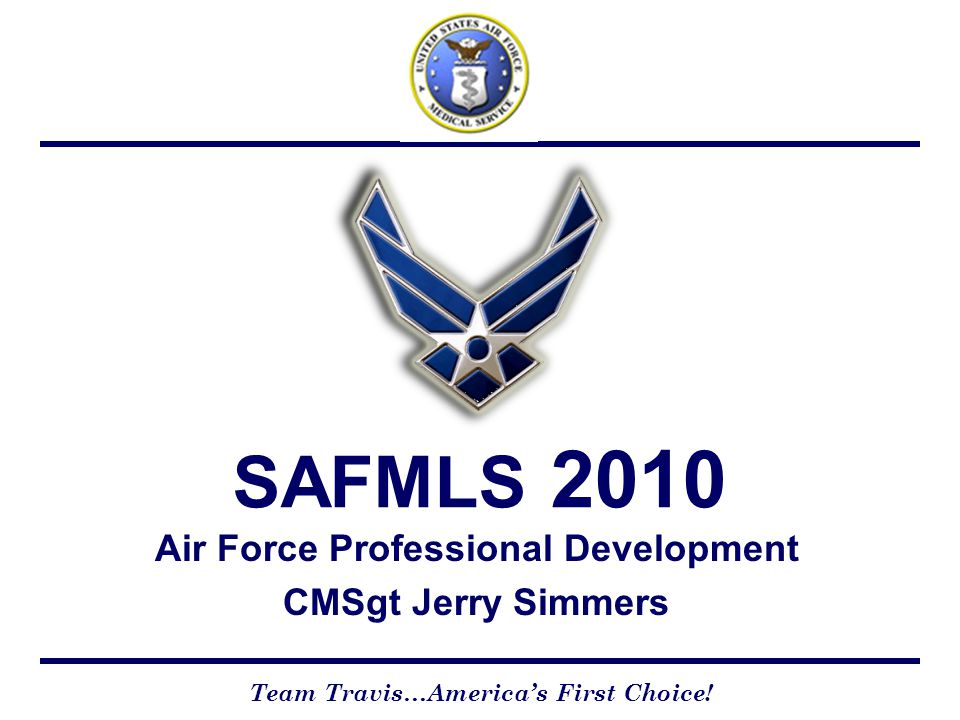 Air Force Professional Development CMSgt Jerry Simmers