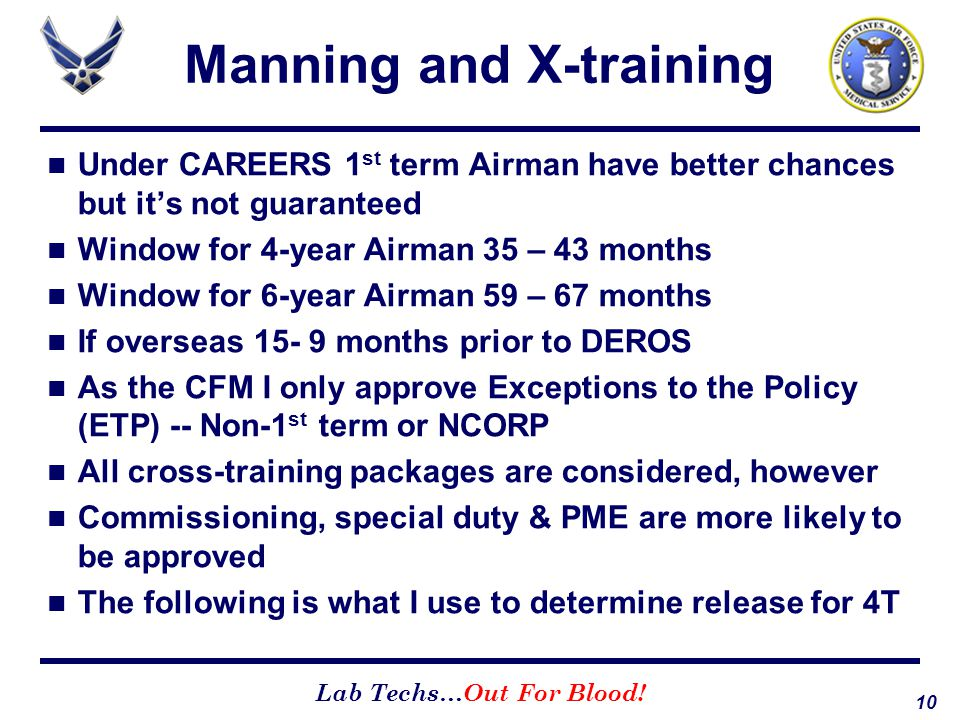 Manning and X-training