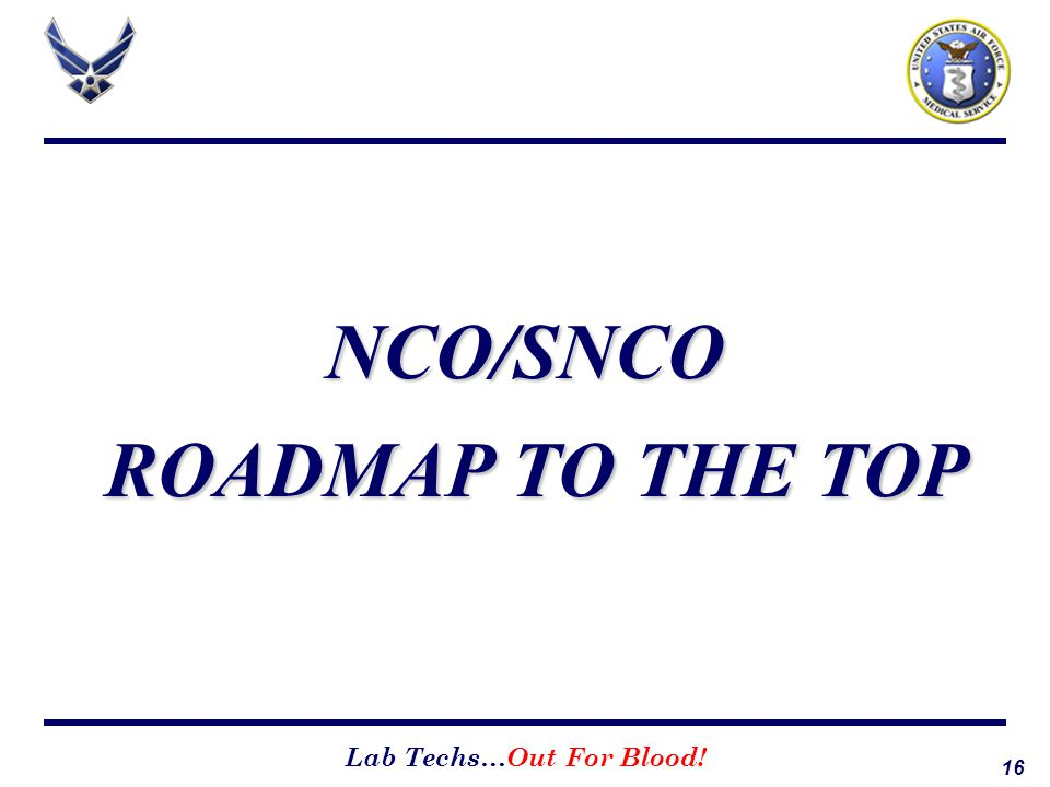 NCO/SNCO ROADMAP TO THE TOP