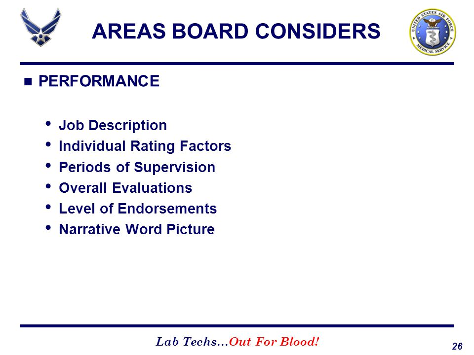 AREAS BOARD CONSIDERS PERFORMANCE Job Description