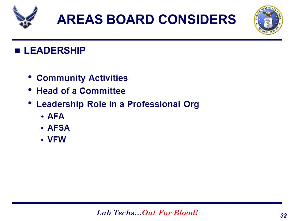 AREAS BOARD CONSIDERS LEADERSHIP Community Activities