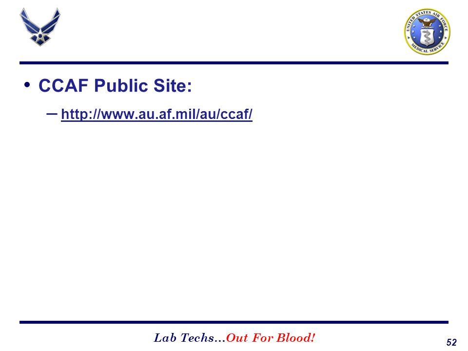 CCAF Public Site: http://www.au.af.mil/au/ccaf/