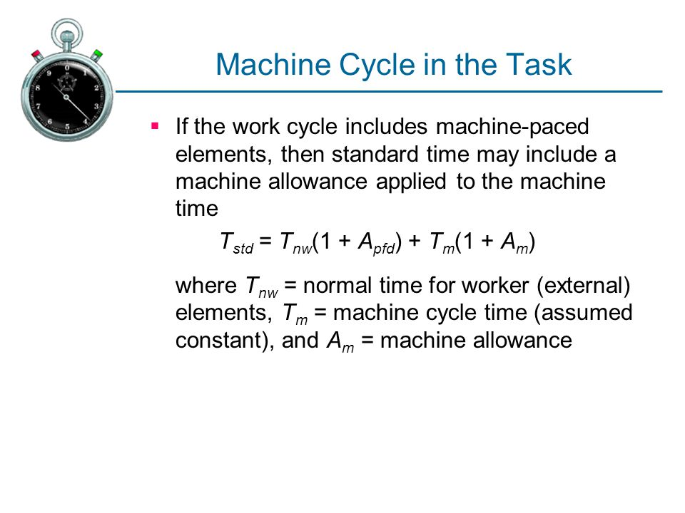 Machine Cycle in the Task