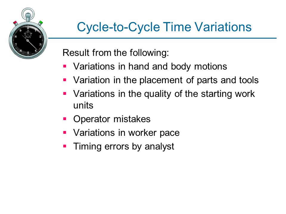 Cycle-to-Cycle Time Variations
