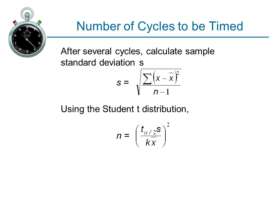 Number of Cycles to be Timed