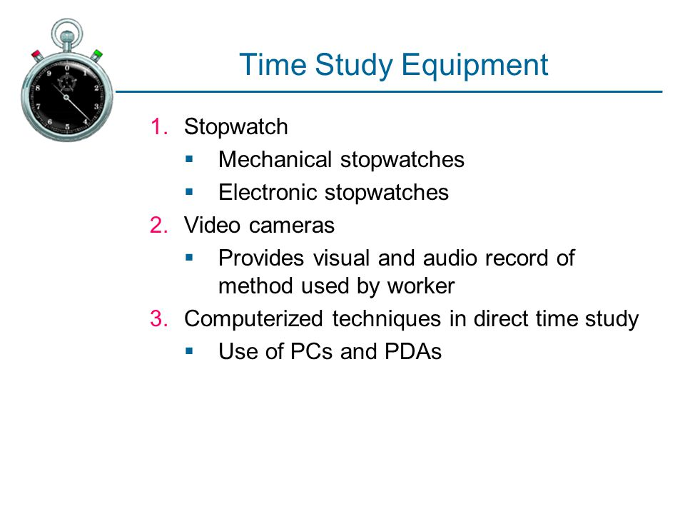 Time Study Equipment Stopwatch Mechanical stopwatches