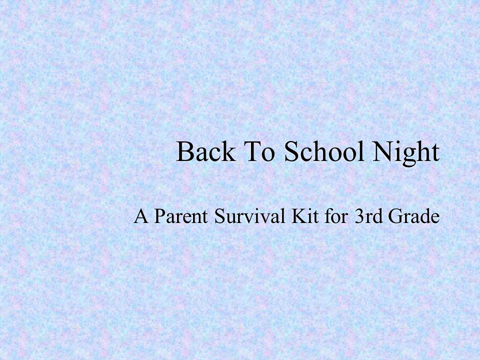 A Parent Survival Kit for 3rd Grade