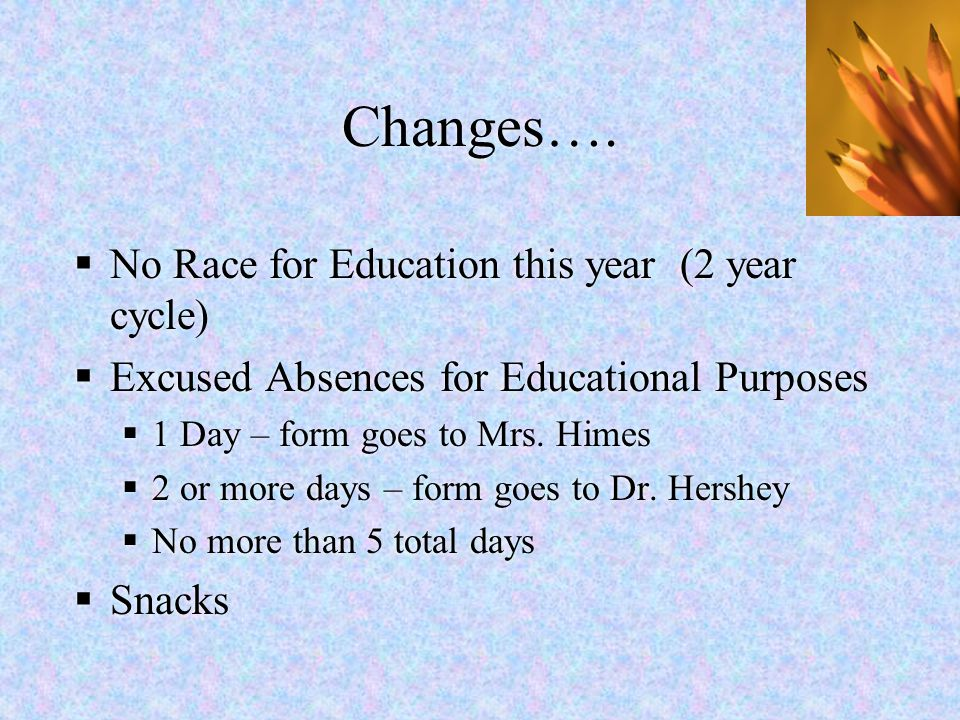 Changes…. No Race for Education this year (2 year cycle)