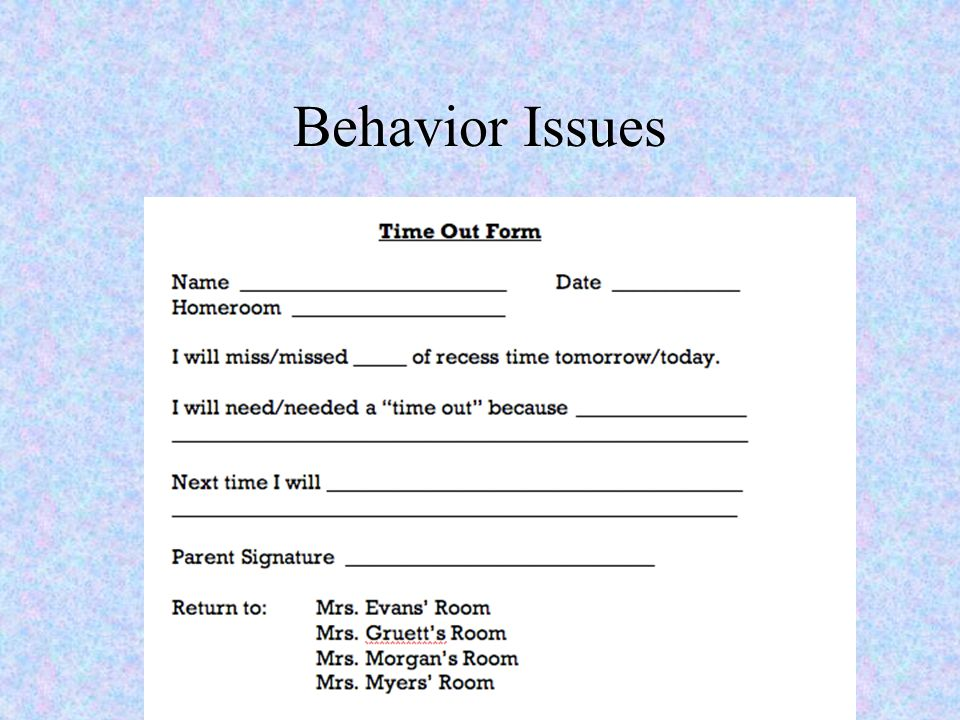 Behavior Issues