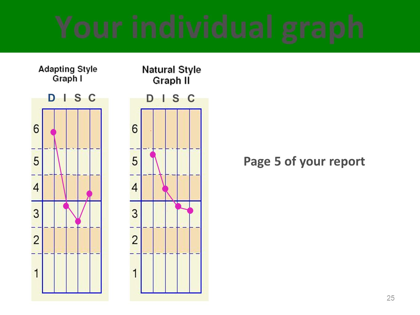 Your individual graph Page 5 of your report D I S C D I S C Page 5