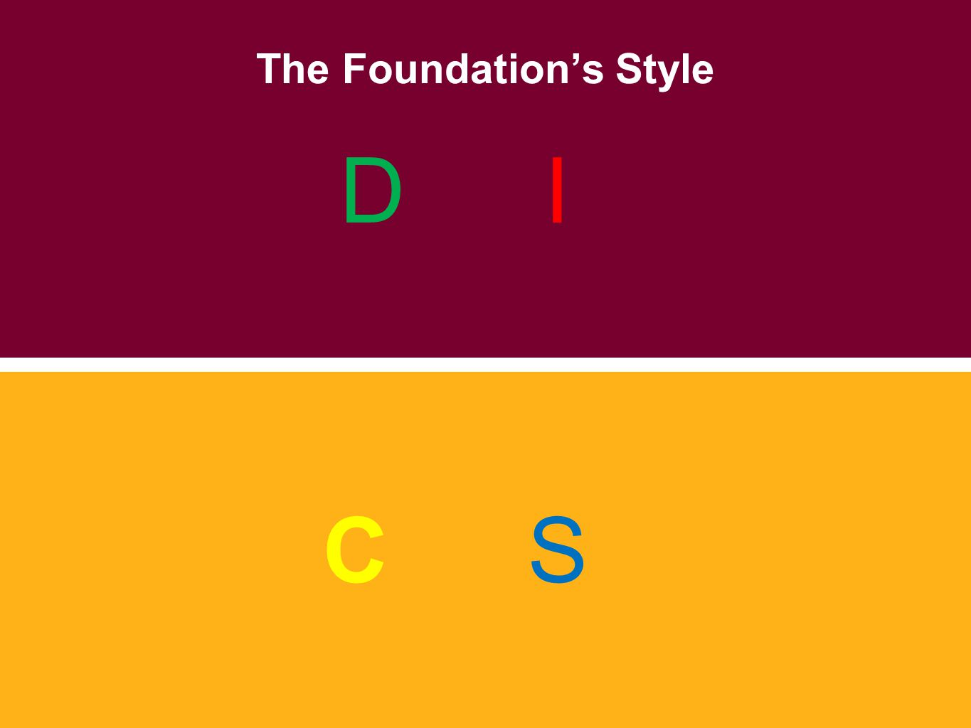 The Foundation's Style