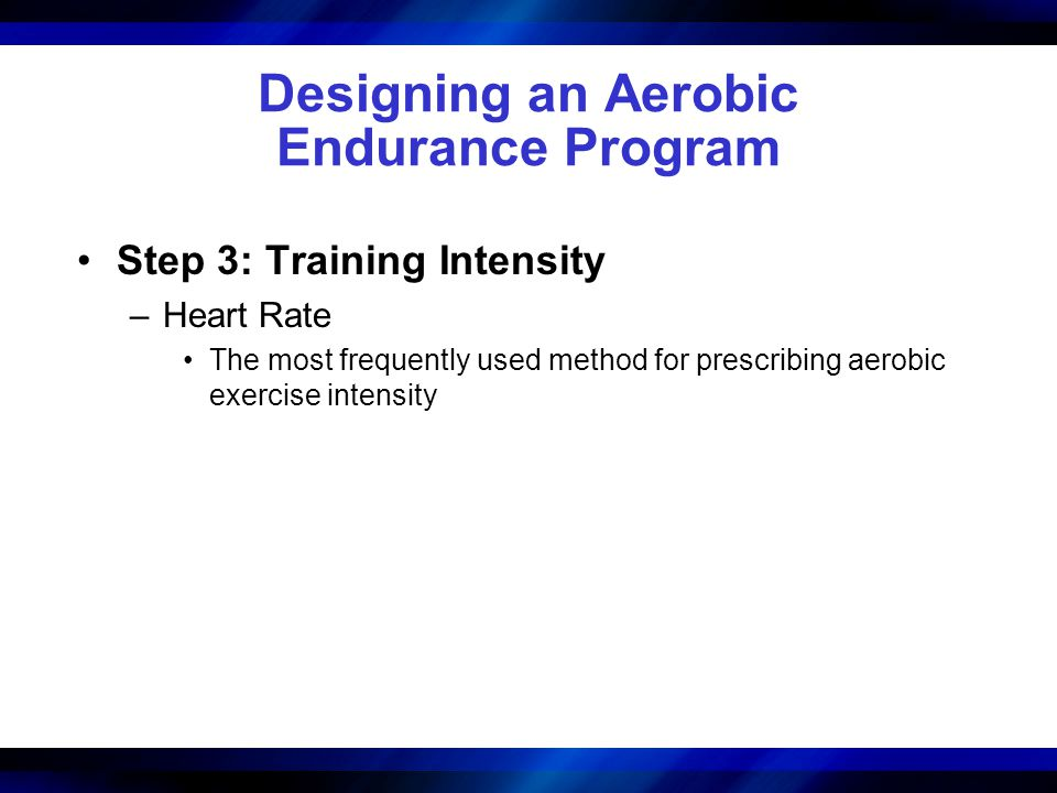 Designing an Aerobic Endurance Program