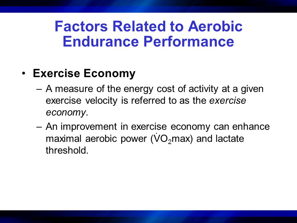 Factors Related to Aerobic Endurance Performance
