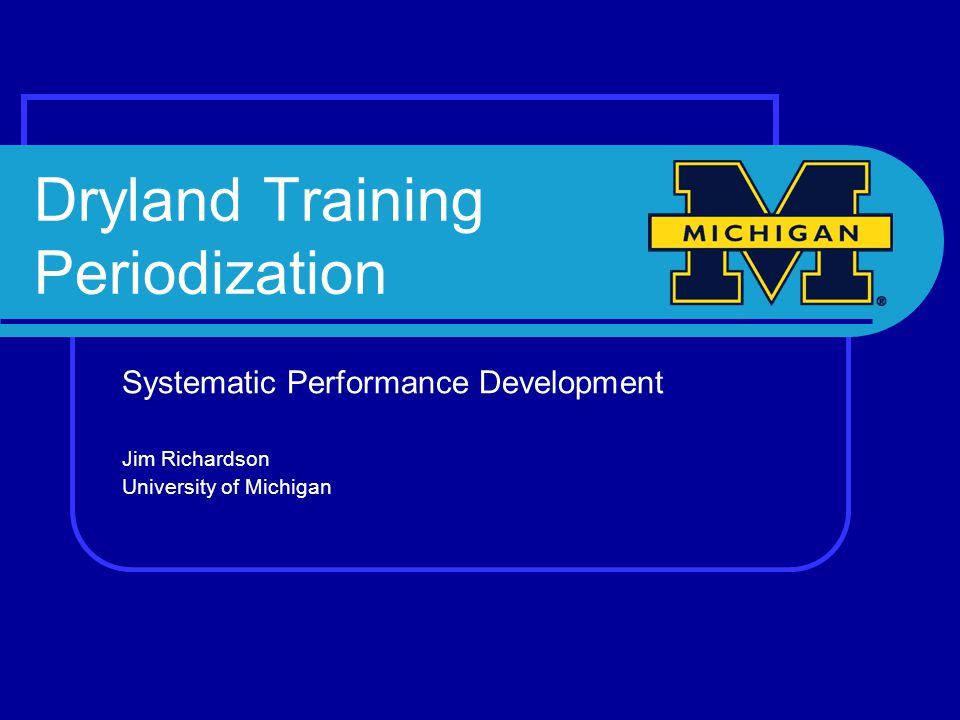 Dryland Training Periodization