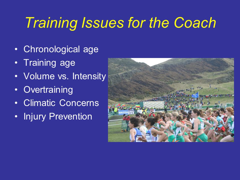 Training Issues for the Coach