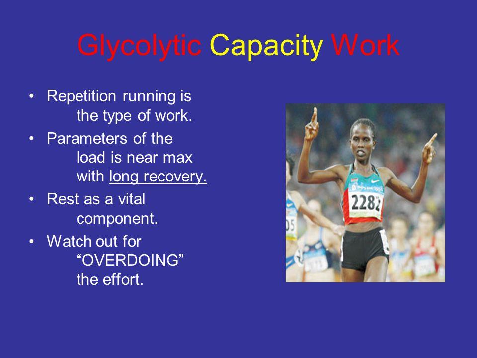 Glycolytic Capacity Work
