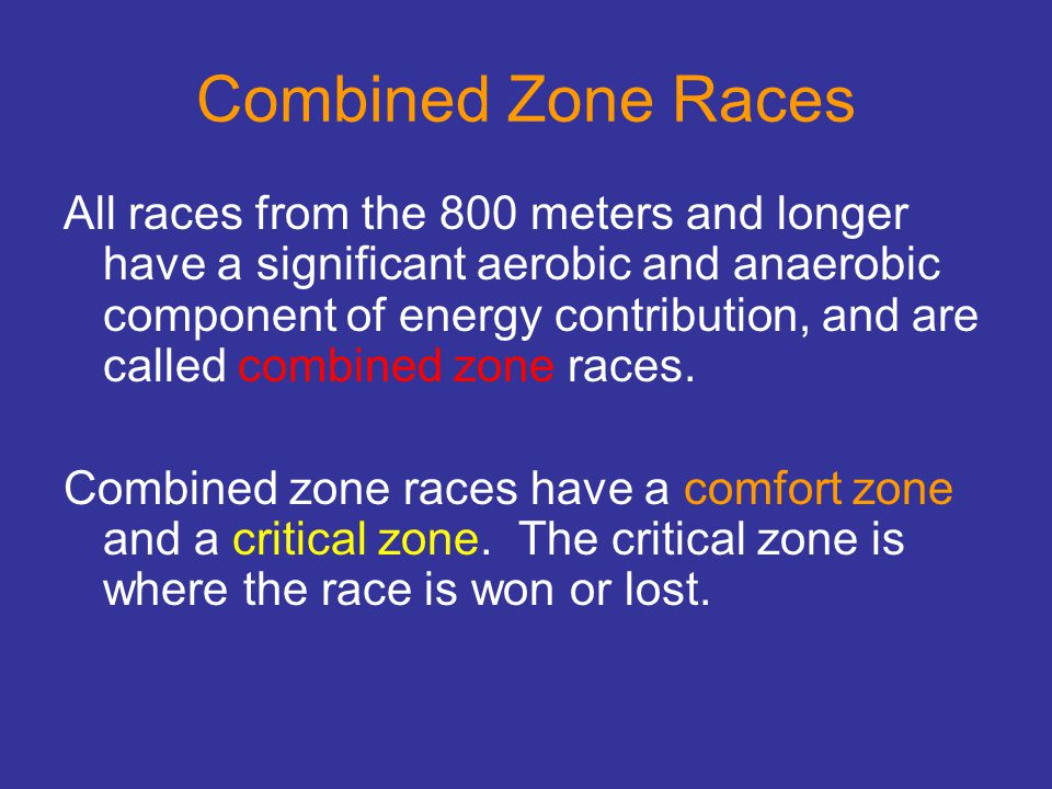 Combined Zone Races