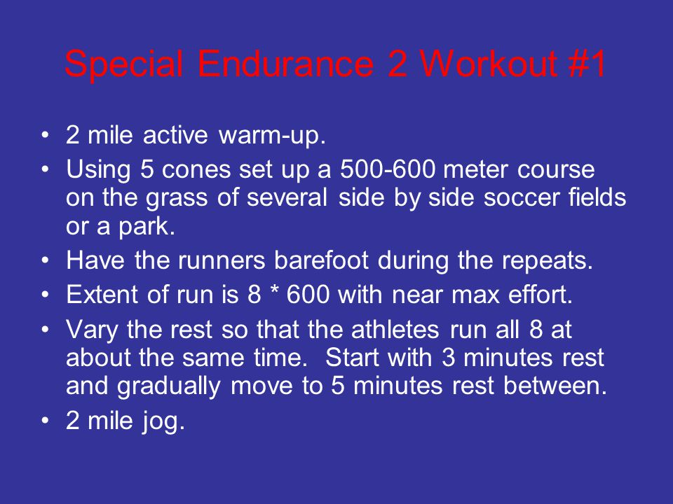 Special Endurance 2 Workout #1