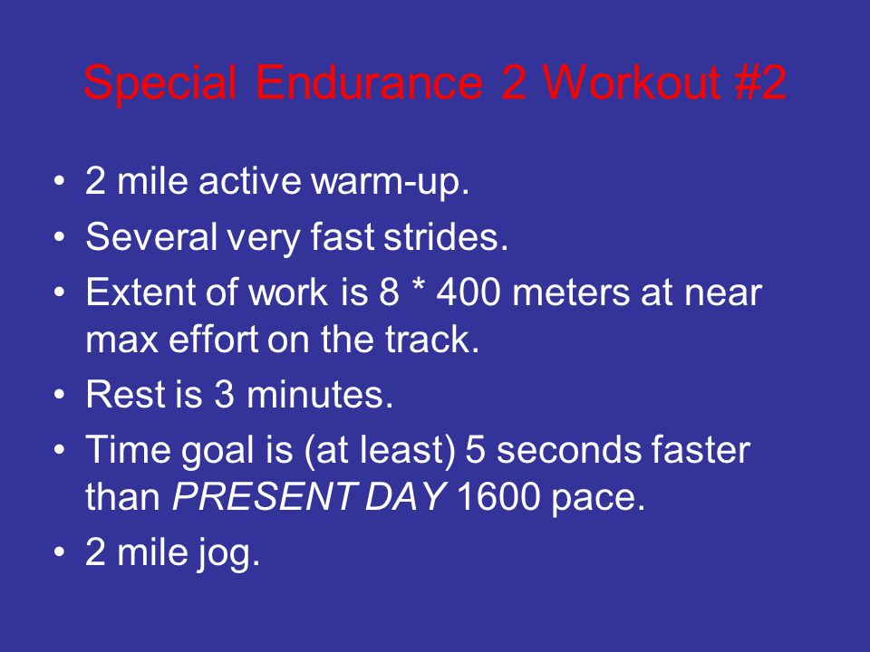 Special Endurance 2 Workout #2