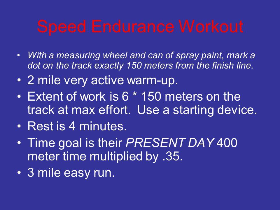 Speed Endurance Workout