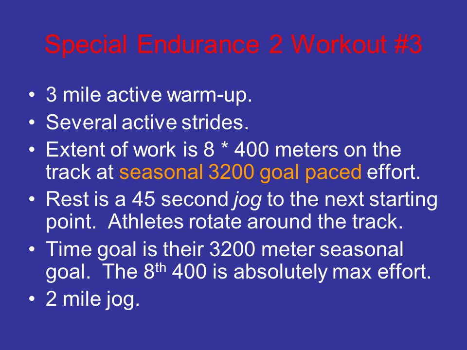 Special Endurance 2 Workout #3