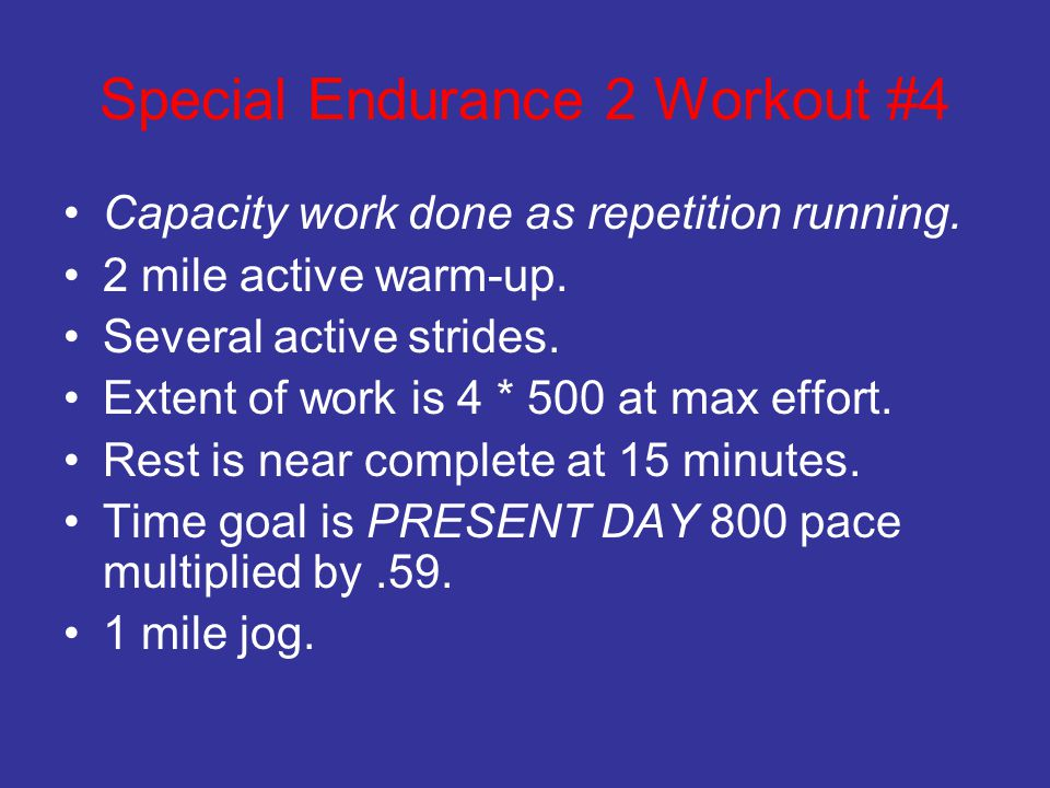 Special Endurance 2 Workout #4