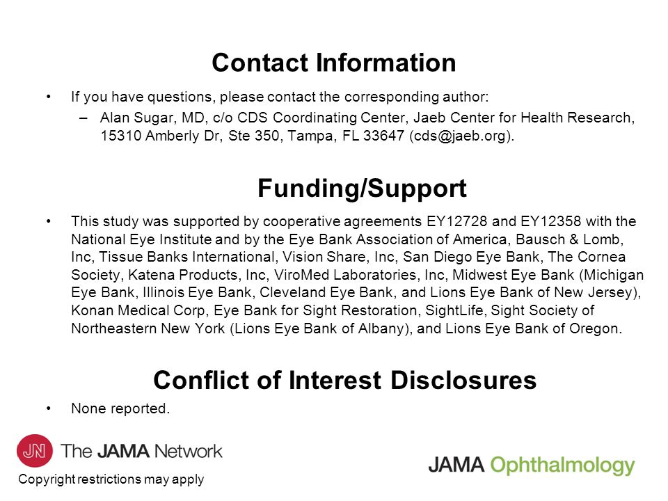 Conflict of Interest Disclosures