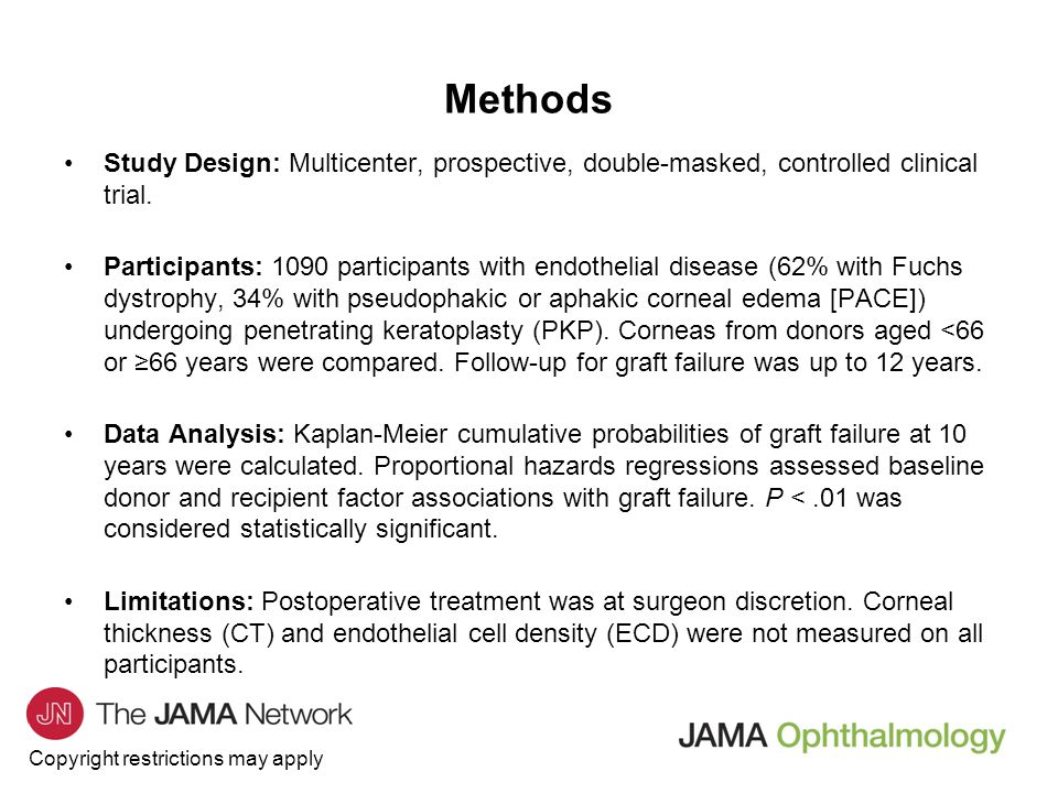 Methods Study Design: Multicenter, prospective, double-masked, controlled clinical trial.