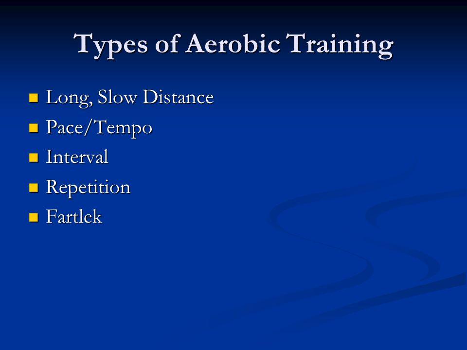 Types of Aerobic Training