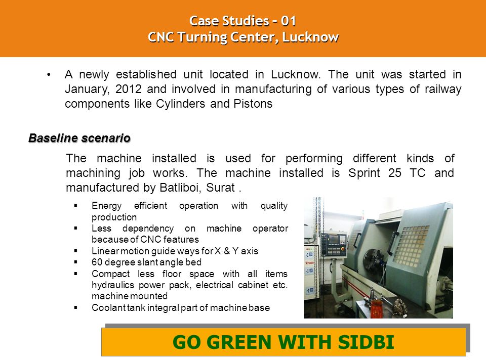 Case Studies – 01 CNC Turning Center, Lucknow